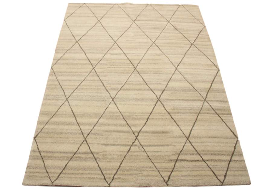 teppich nepal handgekn pft 170x240 cm 100 wolle grau. Black Bedroom Furniture Sets. Home Design Ideas