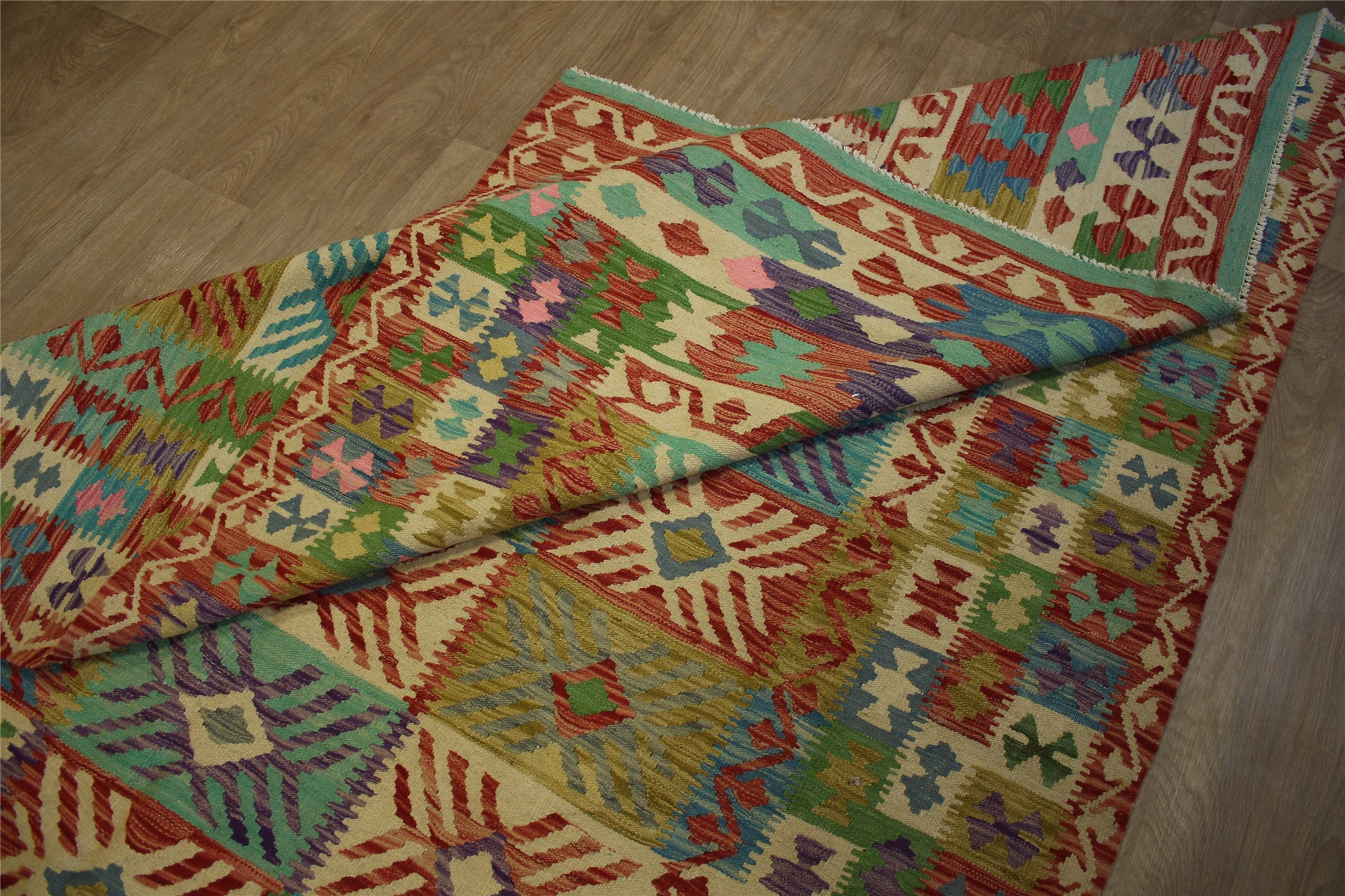 tapis nomades kelim chobi afghan style ancien 201x298 cm