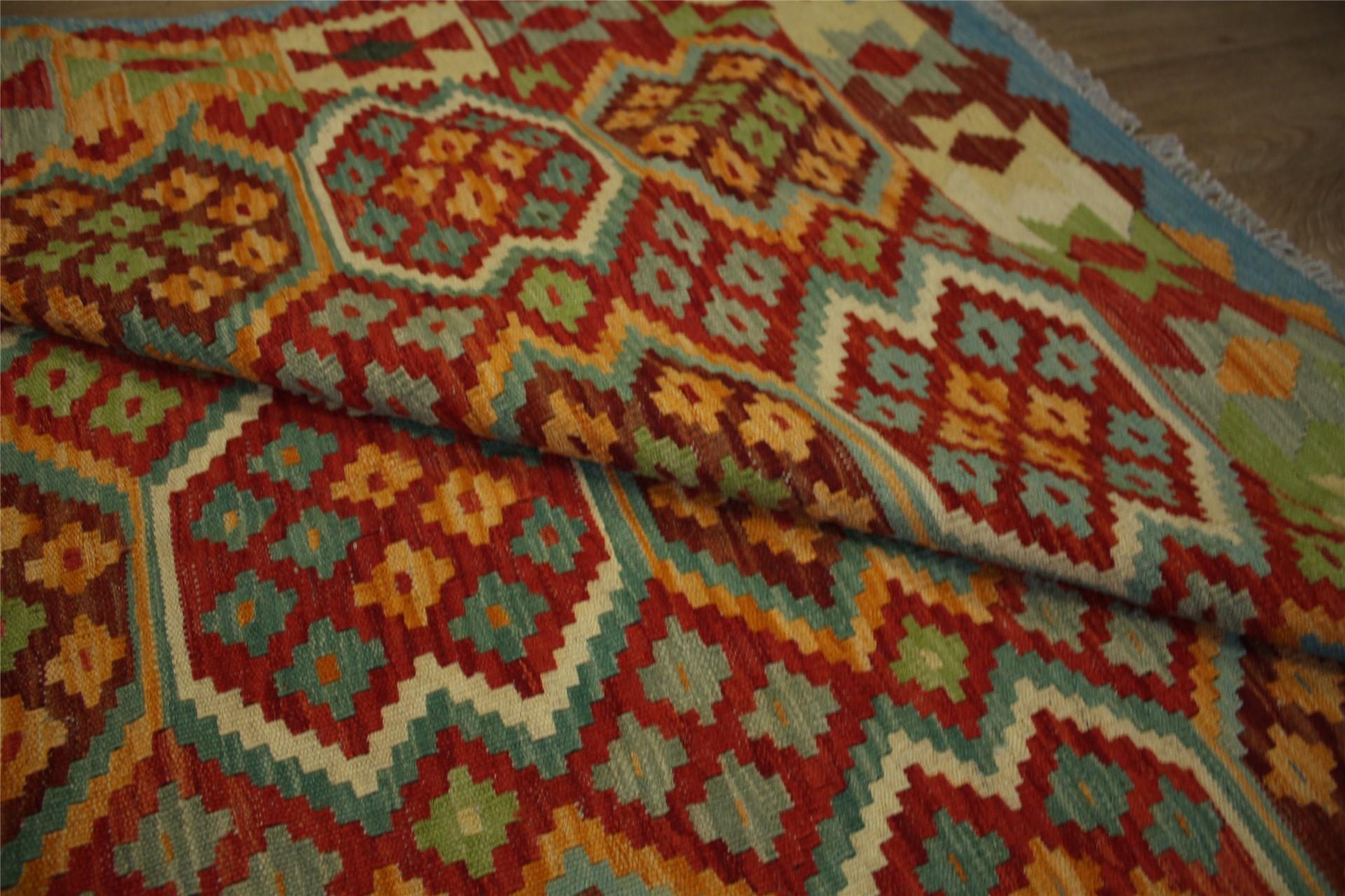 tapis nomades kelim chobi afghan style ancien 200x290 cm