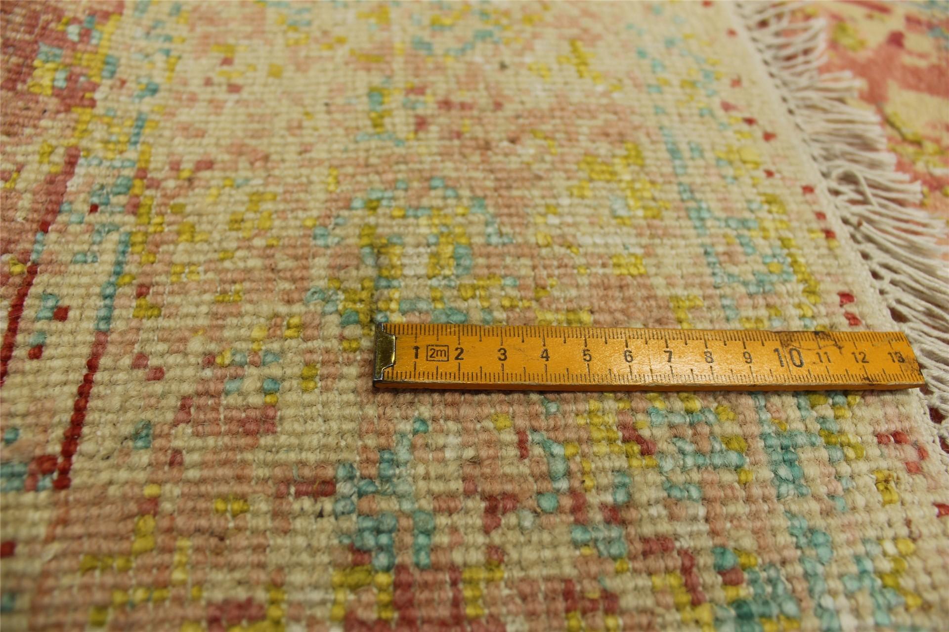 orient teppich vintage mit seide 200x300 cm 100 wolle handgekn pft rosa ebay